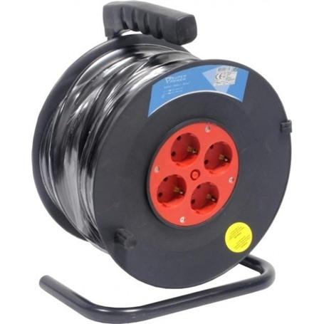 Extensão Com Enrolador 4 Tomadas 3X1,5mm - 25Metros - 4011160102615