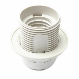 Suporte Lâmpada E27 Abajour Branco - 607B