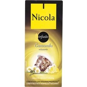Capsulas compativeis Nespresso Nicola Chá Camomila Relaxante - 1711.1699