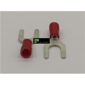 Terminal Forquilha 6,0mm Vermelho - 65300