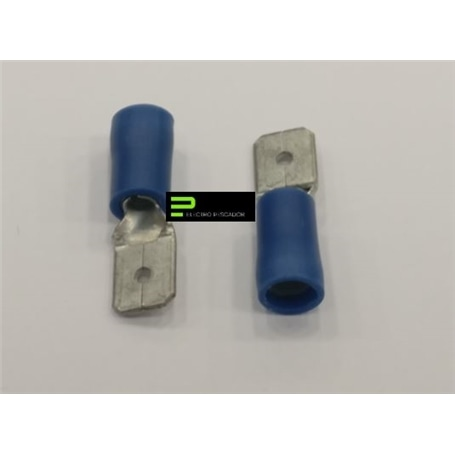 Terminal Ficha 6,3mm Parcialmente Isolado Macho Azul - 56000
