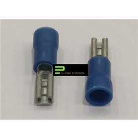 Terminal Ficha 4,0mm Femea Parcialmente Isolado Azul - 54400