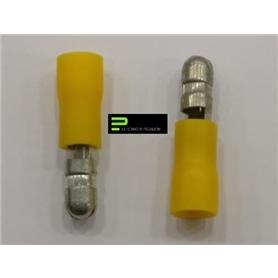 Terminal Cilindrico 5,0mm Macho Amarelo - 64700
