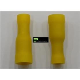 Terminal Cilindrico 6,4mm Femea Amarelo - 64800