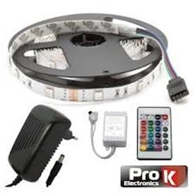 FITA 150 LEDS RGB IP20 5M 24W C/TRANSFORMADOR + COMANDO - 1802.0197