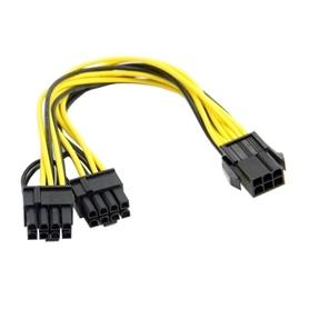CABO PCIE 6P FEMEA -> 2X6+2 P MACHO - 1802.0558