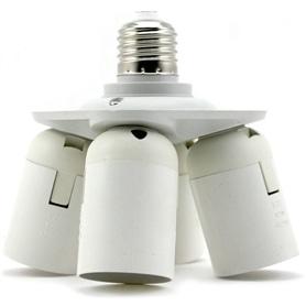 Suporte Lâmpada Adaptador E27 -> 4xE27 - 1803.0154