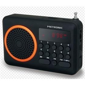 RADIO BOLSO METRONIC MET450 C/BATERIA+LEITOR CARTOES LARANJA - 1803.1101
