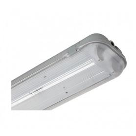 Armadura Acrilica p/LED Tubular 2x120cm - 1803.1250