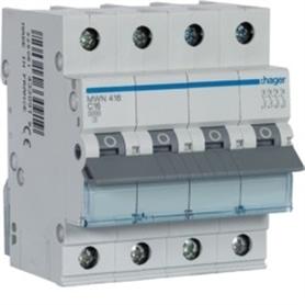 Disjuntor 4x16Amp hager - MW416