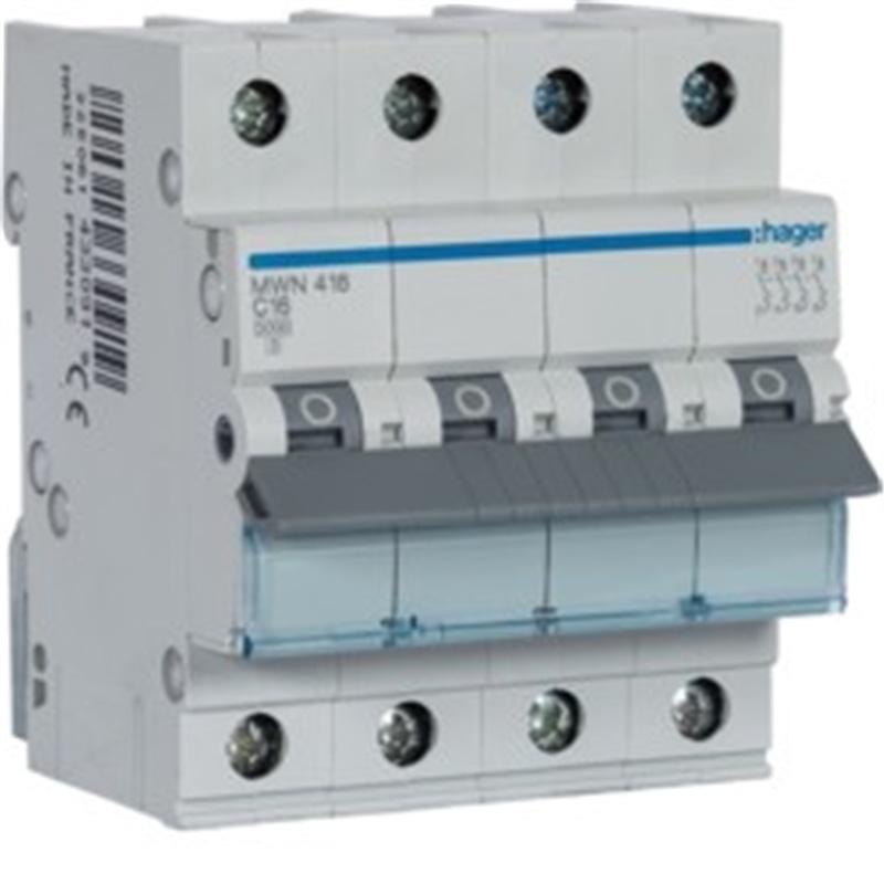b48708da0dd Disjuntor 4x16Amp hager - MATERIAL ELECTRICO CIRCUITO ELECTRICO QUADROS E  DISJUNTORES