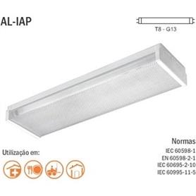 Armadura Acrilica p/LED Tubular 2x60cm - 1805.1750