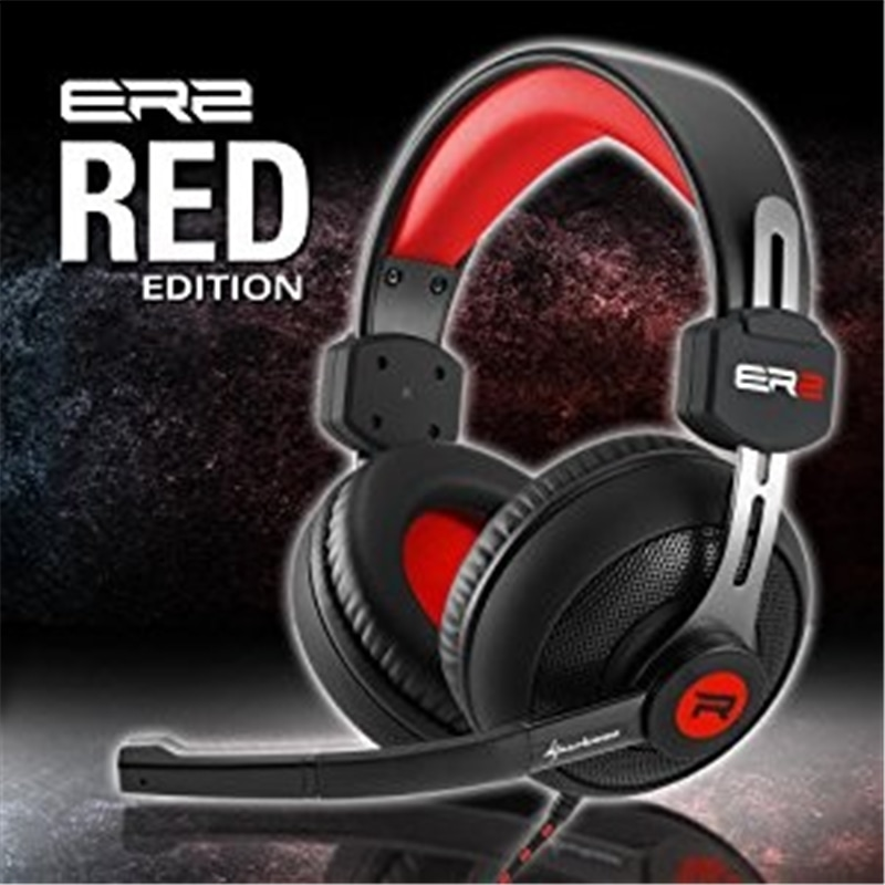 HEADSET GAMING 3,5MM SHARKOON RUSH ER2 RED - 1805.1891