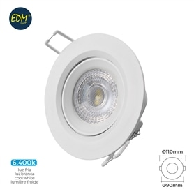 Projector Encastrar Redondo Branco LED  5w Branco Frio - 1805.2196