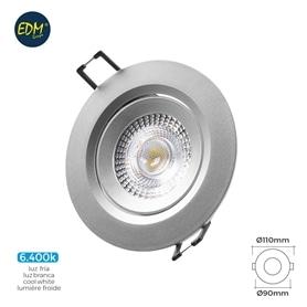 Projector Encastrar Redondo Cinza LED  5w Branco Frio - 1805.2195