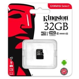 CARTAO MICRO SD 32GB CLASSE 10 80Mbs KINGSTON - 1808.1001
