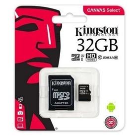 CARTAO MICRO SD 32GB+ADAPT SD CLASSE 10 KINGSTON - 1809.1301