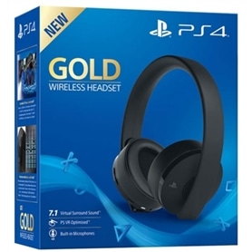 HEADSET PS4 GOLD WIRELESS 7.1 VIRTUAL SURROUND SOUND - 1809.2301