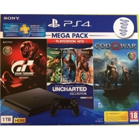CONSOLA PS4 PLAYSTATION 4 SLIM 1TB + 3 JOGOS MEGA PACK - 1812.0401