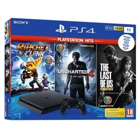 CONSOLA PS4 PLAYSTATION 4 SLIM 1TB + 3 JOGOS PLAY HITS - 1812.1001