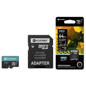 CARTAO MICRO SDXC 64GB+ADAPT SD CL10 70MB/S PLATINET PRO1 - 1812.2198