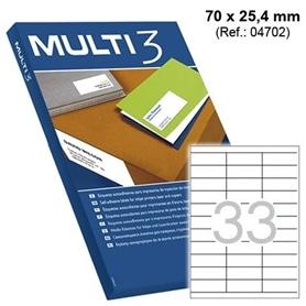 ETIQUETAS 70X25,4 - 100 FOLHAS A4 - 1901.0999