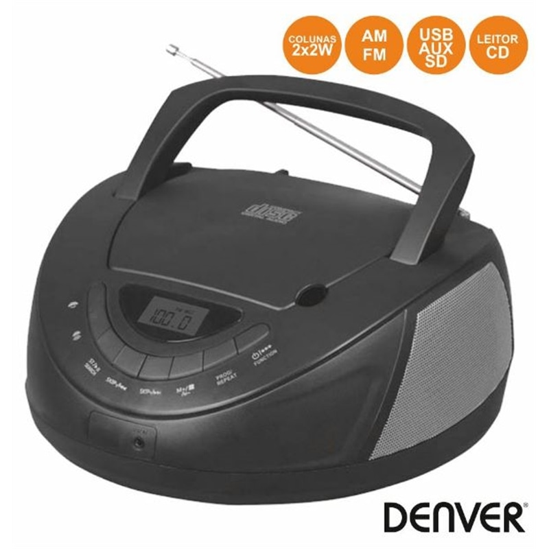 RADIO+CD+DENVER TC-27 PRETO - 1903.1802