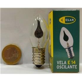 Lâmpada E14 VELA Decorativa Chama Oscilante Flicker Clar 3w - 1905.2852