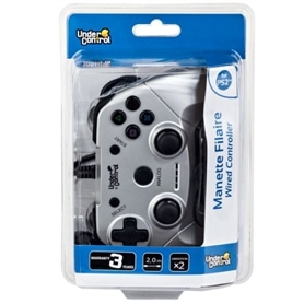 COMANDO PS2 MANETTE FILAIRE WIRED CONTROLER SILVER - 1906.1994