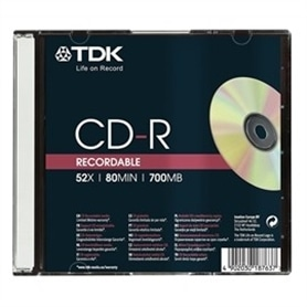 MG CD-R INF TDK CD-R80 SLIM T18765 - 4902030185312