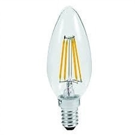 Lâmpada E14 VELA Decorativa LED Filamento 4w Branco Frio - 1612.2251