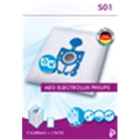 Saco p/Aspirador Philips/Electrolux/Aeg S01 5x+F - TRI.SACOASP03