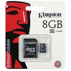 CARTAO MICRO SD 8GB+ADAPT SD CLASSE 4 KINGSTON - 1808.1098