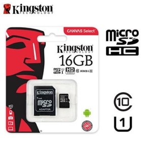 CARTAO MICRO SD 16GB+ADAPT SD CLASSE 10 KINGSTON LA - 1709.1796