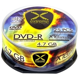 MG DVD-R CAKE BOX EXTREME 4,7GB - 16X - 25 UNIDADES - 1804.2050