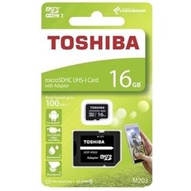 CARTAO MICRO SD 16GB+ADAPT SD CLASSE 10 100MB/S TOSHIBA LA - 1905.1432