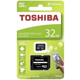 CARTAO MICRO SD 32GB+ADAPT SD CLASSE 10 100MB/S TOSHIBA LA - 1905.1431
