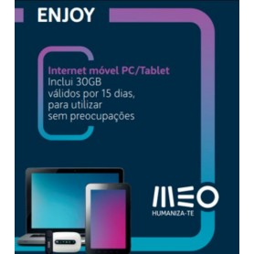 CARTAO TLM INTERNET MOVEL MEO ENJOY 15G -15DIAS - 1608.1205