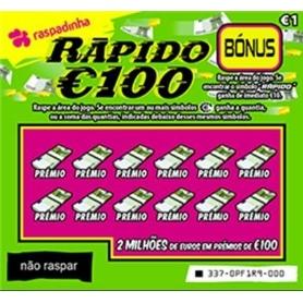 RASPADINHA LA 1 EUROS RAPIDO 100 - 1.337
