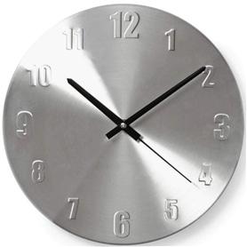 Relógio de Parede Analógico Alumínio 30CM - 1906.1951