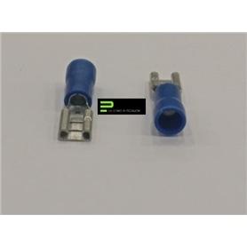 Terminal Ficha 5,8mm Parcialmente Isolado Femea Azul - 54500