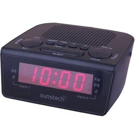 RADIO RELOGIO SUNSTECH FRD18 PRETO - 1906.1989