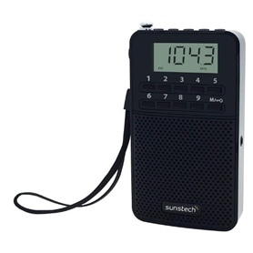 MINI-RÁDIO DIGITAL SUNSTECH RPDS81 - INCLUI PHONES - 1906.1987
