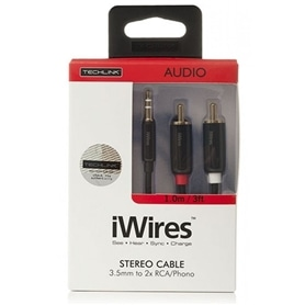 CABO JACK 3,5mm 2xRCA M-M 1,0M TECHLINK SERIE IWIRES - 1907.0394