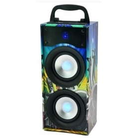 COLUNA TRANSPORTAVEL AMPLIFICADA 20W LED PARTY DISCO 2 - 1907.1002