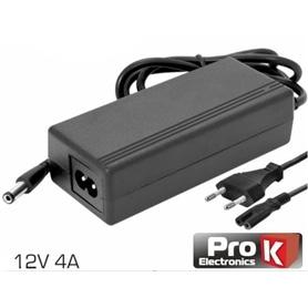 Transformador 230V->12V DC 4,0 Amp Switching Preto - 1908.0753