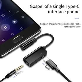 Adaptador BASEUS USB-C MACHO P/ USB-C FEMEA + JACK 3.5mm - 1909.2802
