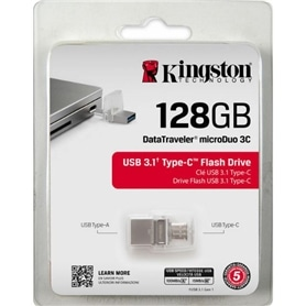 USB + MICROUSB DISK PEN DRIVE 128GB USB 3.1 TYPE-C KINGSTON - 1910.2502