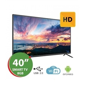 """SMART TV WIFI 40"""" HD READY ANDROID 7 1/8GB SILVER 411336 - 1912.0298"""
