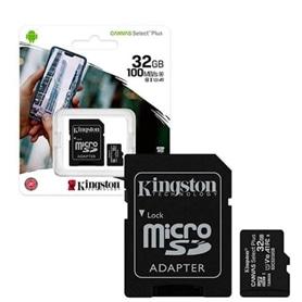 CARTAO MICRO SD 32GB+ADAPT SD CLASSE 10 100MB/S KINGSTON - 2001.0601